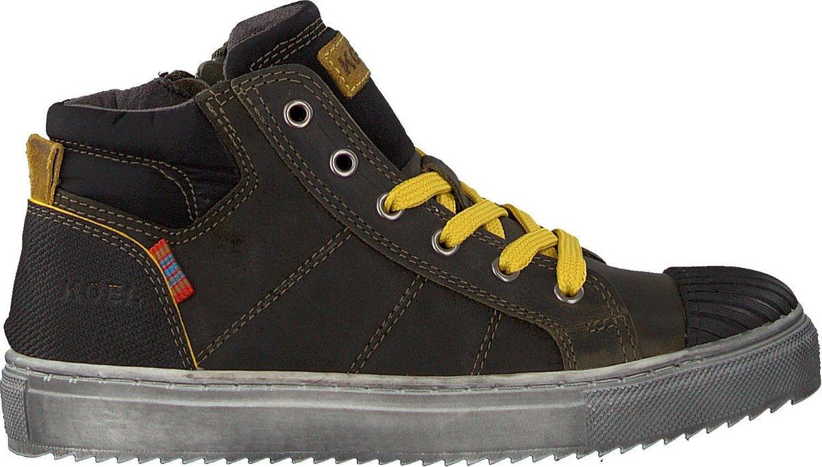 Koel4kids Jongens Hoge sneakers Ko896-al-03 - Groen - Maat 29