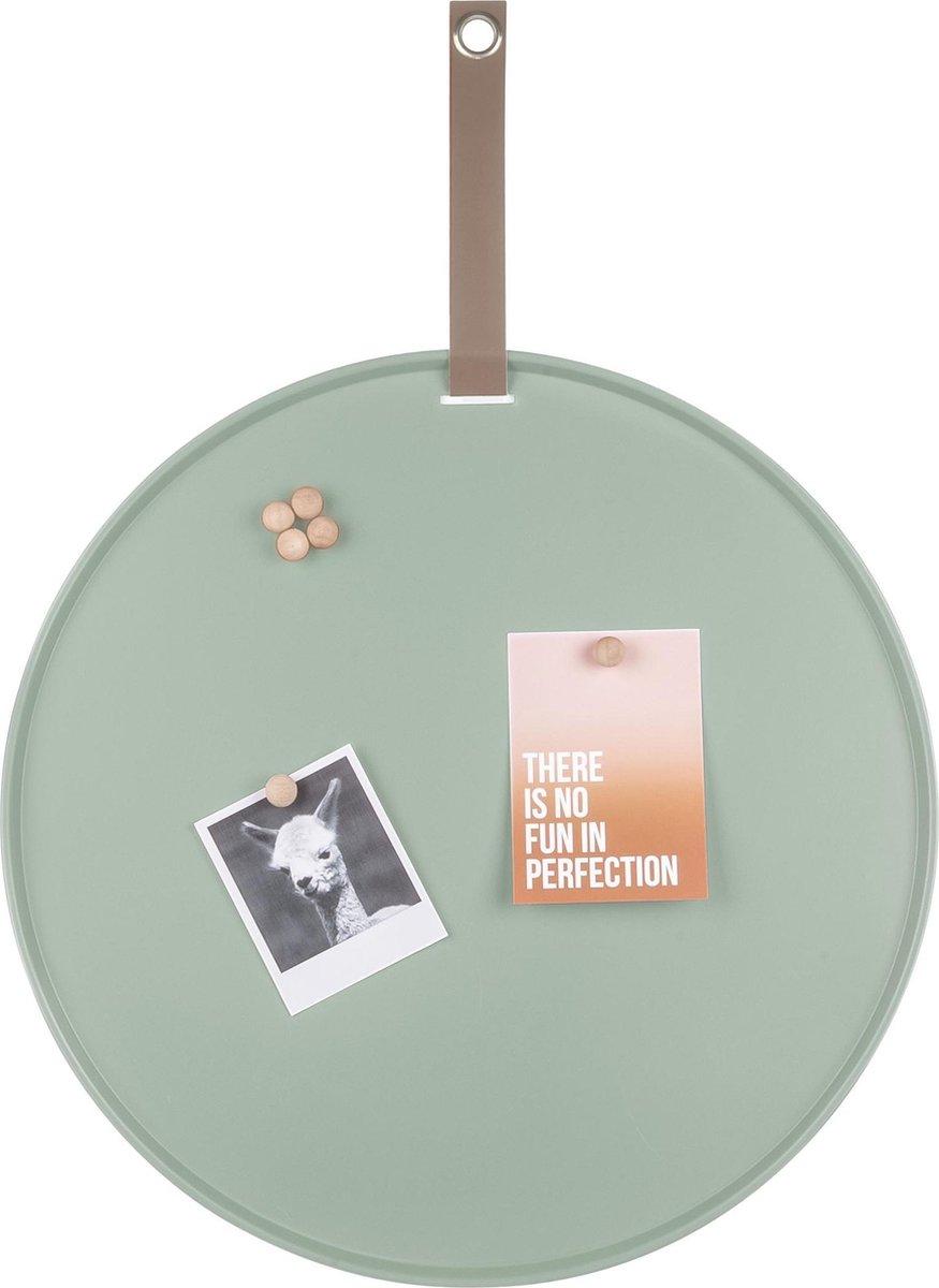 Pt, (Present Time) Perky - Magneet-/memobord - ijzer - 50cm - groen