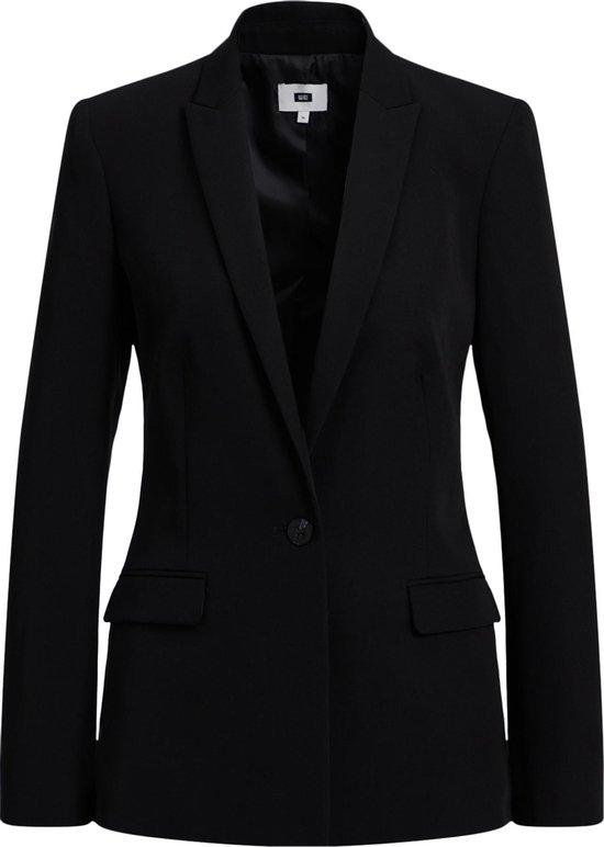 WE Fashion Dames regular fit blazer met stretch Maat XL (42)