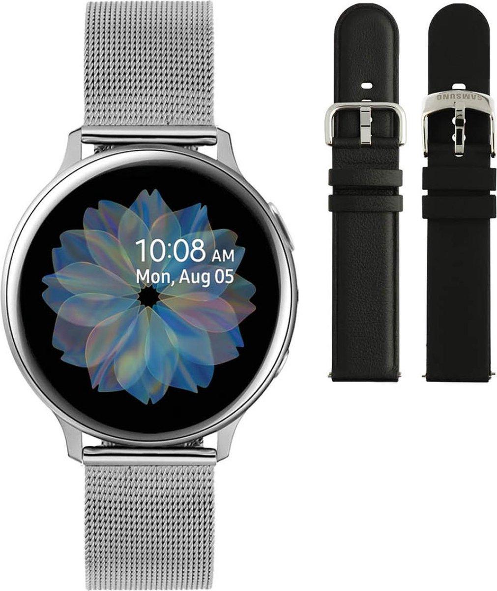 Samsung Active2 smartwatch SA.R830SM - Staal - Milanese band - Zilverkleurig - Ø 40 mm - Special edition kopen