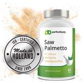 #1 Saw Palmetto (Zaagbladpalm) 60 Palmetto Capsules | Incl. Zink Voor Nóg Betere Werking | 100% Nederlandse Fabrikant | 320 Mg per capsule | ISO-Gecertificeerd | PerfectBody.NL