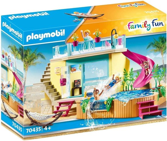 PLAYMOBIL Family Fun Bungalow met zwembad - 70435