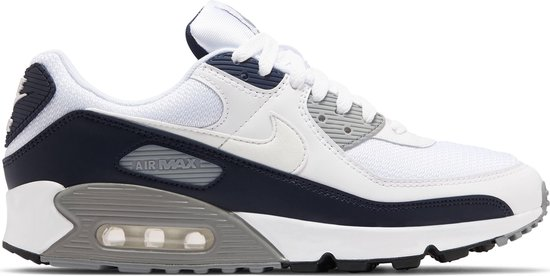 Nike Air Max 90 Heren Sneakers - White/White-Particle Grey-Obsidian - Maat 42.5