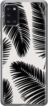 Samsung Galaxy A31 siliconen telefoonhoesje - Palm leaves silhouette