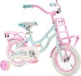 2Cycle Cargo Kinderfiets - 12 inch - Turquoise-Roze - Meisjesfiets