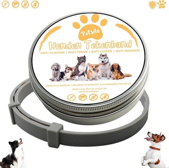 Petsilo Universele Honden Tekenband   Vlooienband   Muggenband   Luizenband   Diervriendelijke beschermband   Op maat te knippen   Tot 10 maanden ULTIEM beschermd!