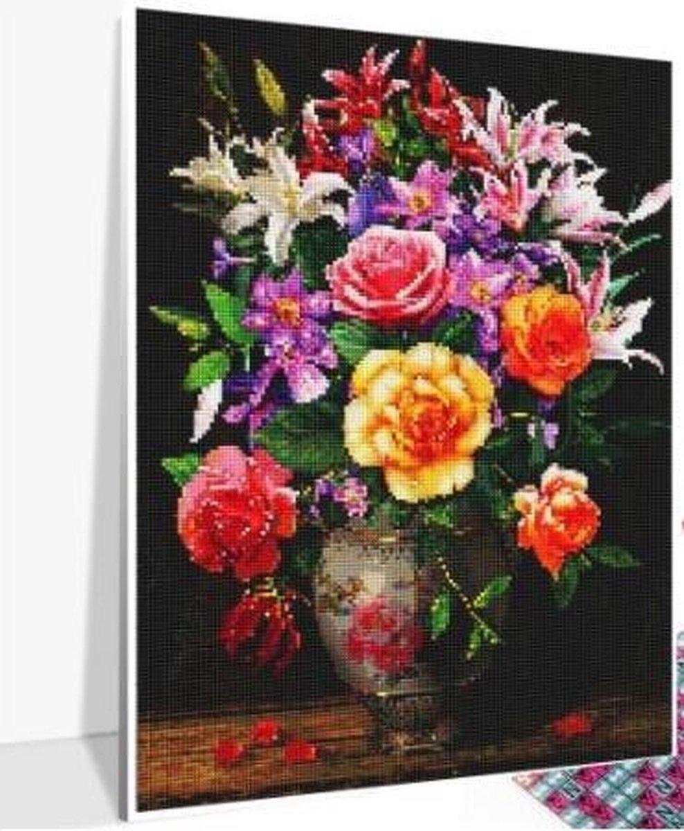 Diamond Painting 30 x 20 cm - vierkante steentjes - pakket volledig - volwassenen - hobby creatief