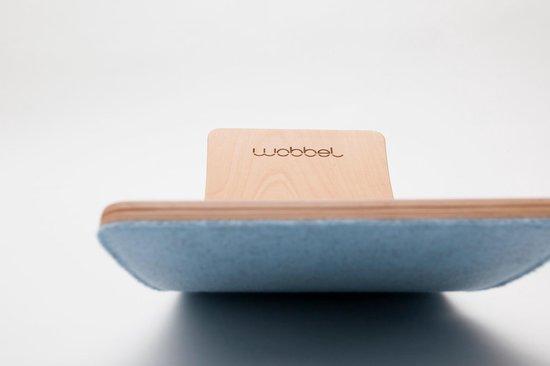 Wobbel Starter Lucht (blauw) - Houten balance board van 70 centimeter - Geschikt voor 0 tot 3 jaar