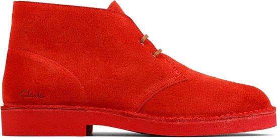Clarks - Herenschoenen - Desert Boot 2 - G - red suede - maat 7,5