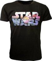 Star Wars Star Wars Baby Yoda Logo T-Shirt Zwart Baby Yoda Logo Unisex T-shirt Maat M