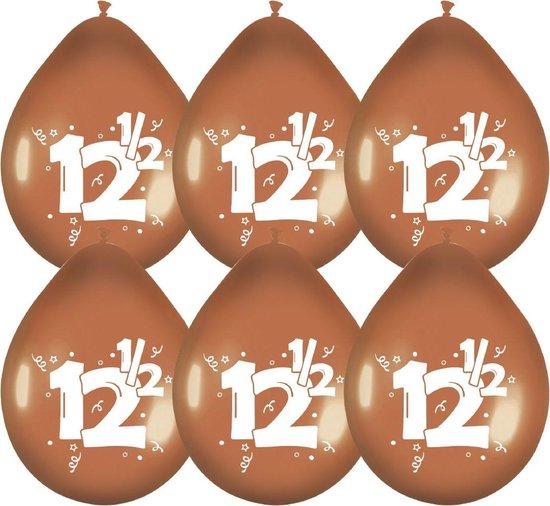 """Haza Original Ballonnen Brons Met Opdruk """"12½"""" Cm 6 Stuks"""
