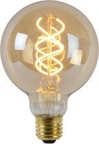 Lucide LED Bulb Filament lamp - Ø 9,5 cm - LED Dimb. - E27 - 1x5W 2200K - Amber