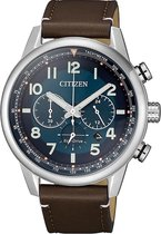 Citizen Eco-Drive Chronograaf CA4420-13L - Leer/Staal - 10BAR - Herenhorloge