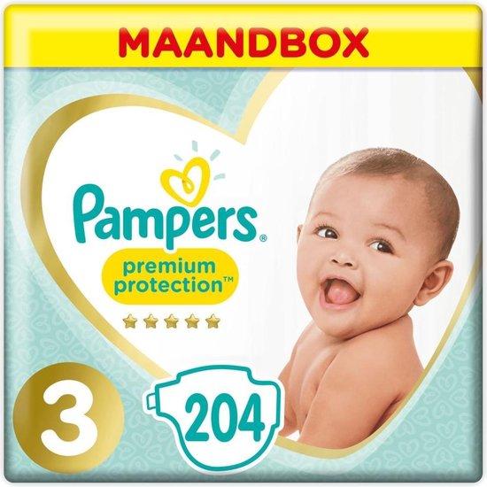 Afbeelding van Pampers Premium Protection Luiers - Maat 3 (6-10 kg) - 204 stuks - Maandbox