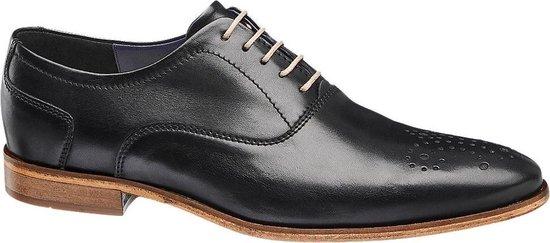 AM shoe Heren Zwarte leren geklede veterschoen - Maat 41
