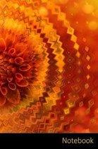 Notebook: Abstrakt, Dahlia, Orange, Herbst Notizbuch / Tagebuch / Schreibheft / Notizen - 6 x 9 Zoll (15,24 x 22,86 cm), 150 Sei