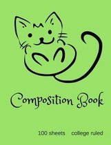 Happy Cat College Ruled Composition Book