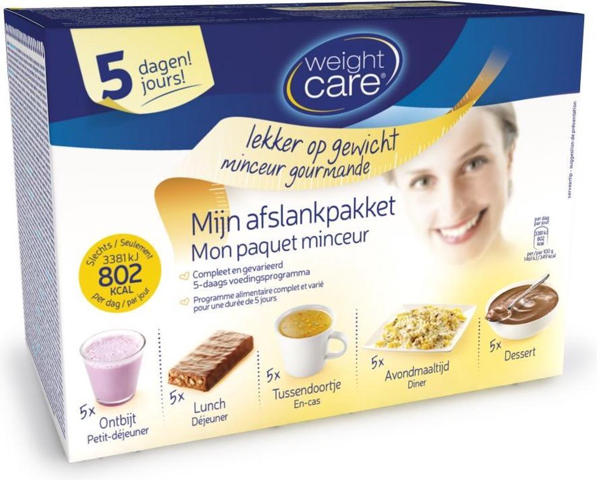 Weight Care Afslankpakket Maaltijdvervangers - 5 Daagse Minikuur