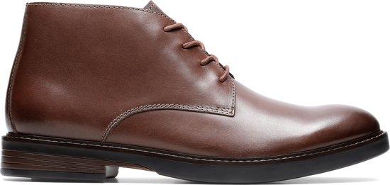 Clarks - Herenschoenen - Paulson Mid - G - mahogany leather - maat 10,5