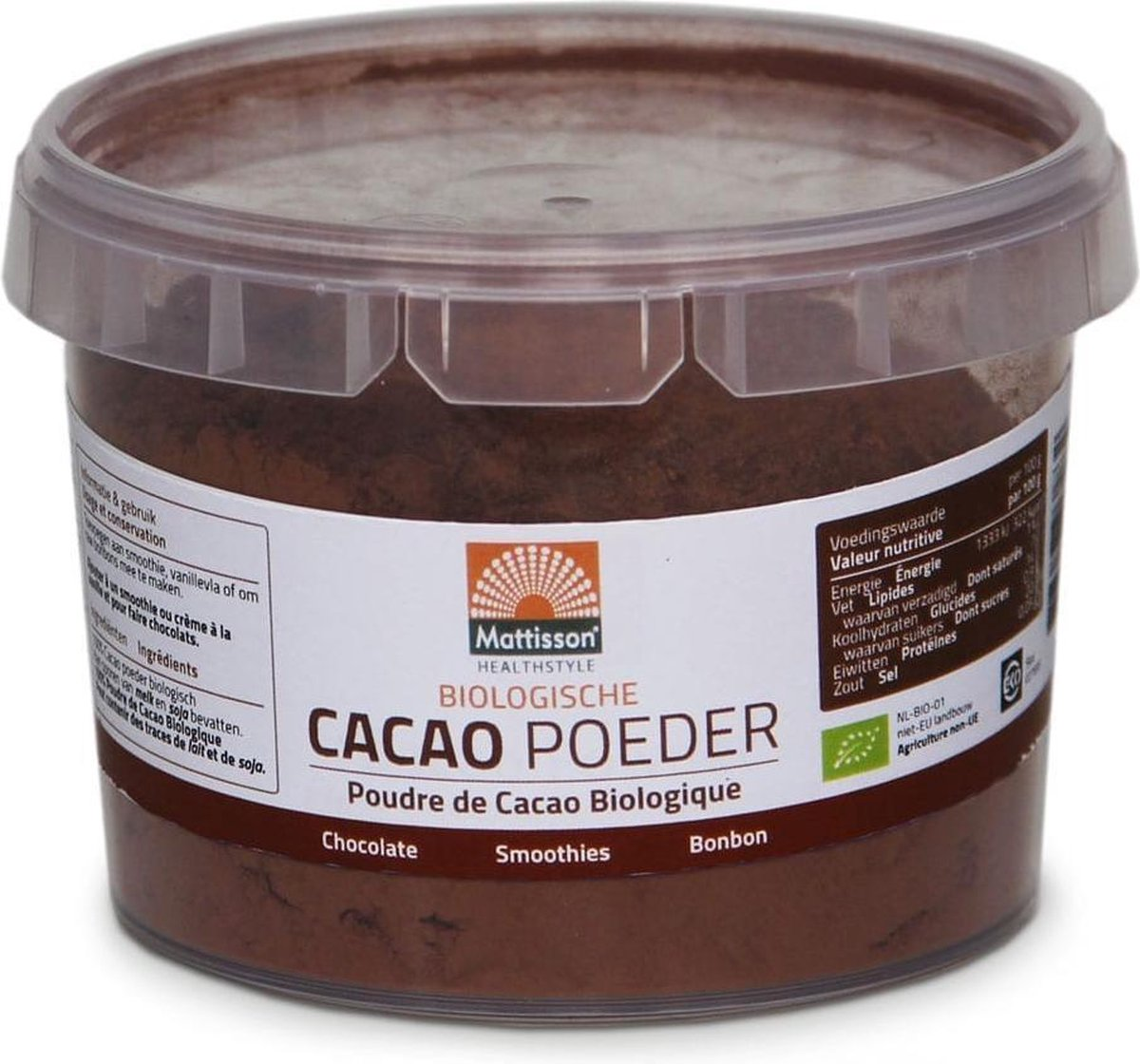Mattisson Absolute Bio Cacao Poeder - 300 gram