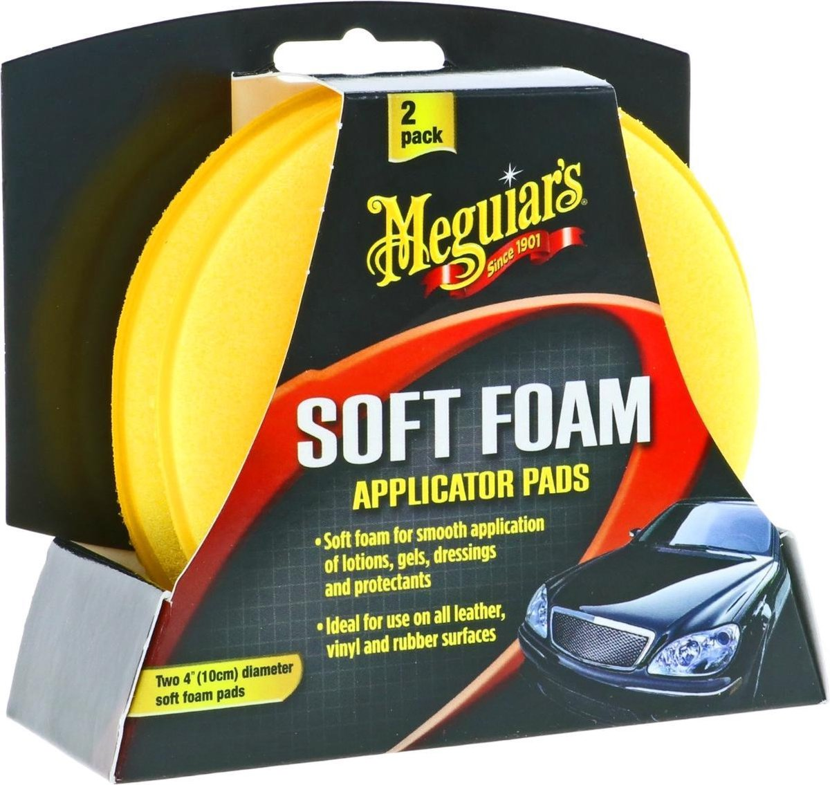 Meguiars X3070 Gold Class High Tech Applicator Pad (Soft Foam) - 2 Pack