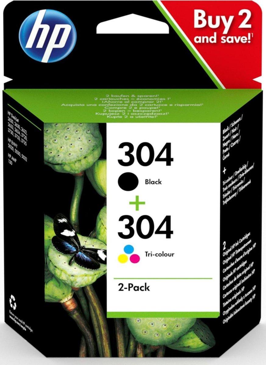 HP 304 - Inktcartridge / Zwart en Kleur