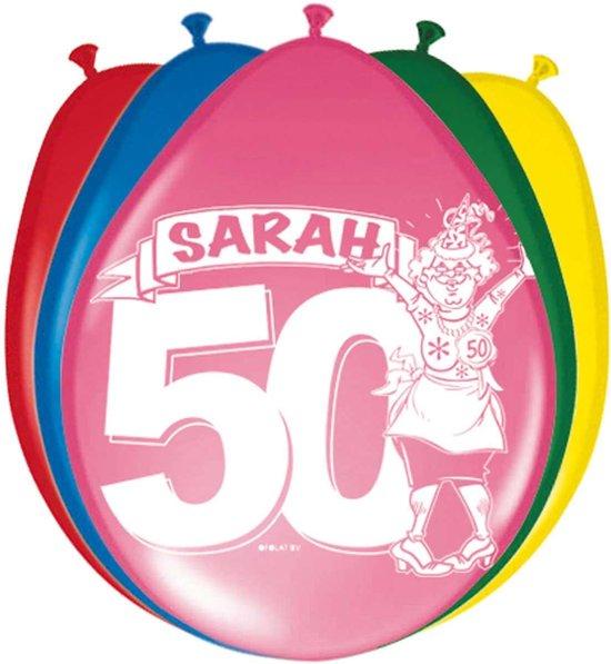50 Jaar Sarah Ballonnen - 8 stuks