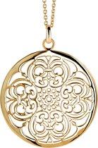 Orphelia Pendant + Chain Gold Plated Big Circle ZH-6034/2