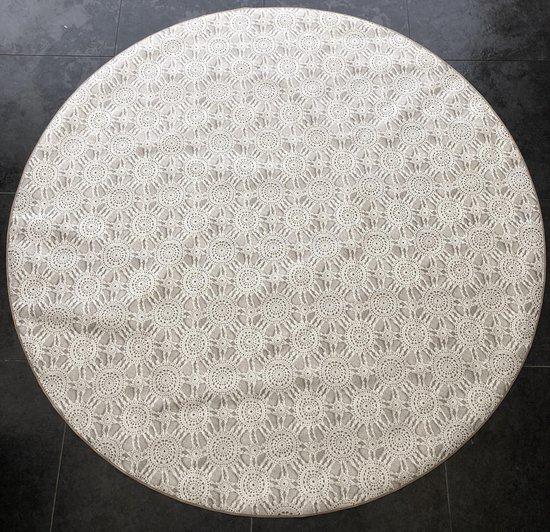 Bonita Tafelzeil - Rond 160 cm - Kant Creme