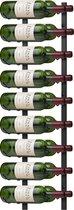 Final Touch Wijnrek - 91 cm lang - Zwart - Wandmontage - 18 flessen