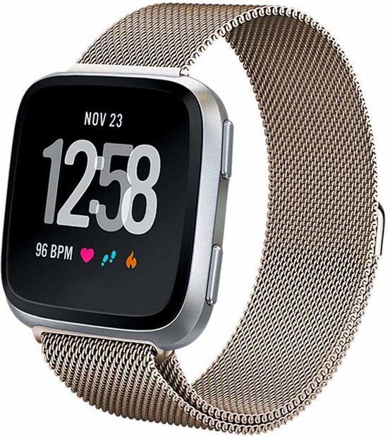 Fitbit versa milanese band - champagne - SM
