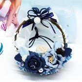 Eeuwige bloem Auto Opknoping Ornament Auto Achteruitkijkspiegel Hanger Romantische Vrouwen Auto-accessoires Styling Auto-hanger Interieur Auto achteruitkijkspiegel Ring Ornamenten, willekeurige kleur Levering