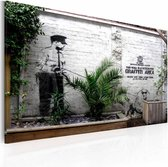 Schilderij - Banksy - Graffiti Area, 40x60cm , wanddecoratie , premium print op canvas