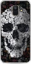 Samsung Galaxy A6 (2018) hoesje Doodle Skull BW Casetastic Smartphone Hoesje softcover case