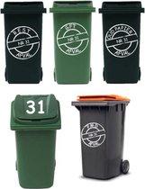 Voordeelset 8 sticker afvalcontainer / kliko   Rosami