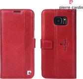 Samsung Galaxy S7 Edge hoesje - Pierre Cardin - Rood - Leer