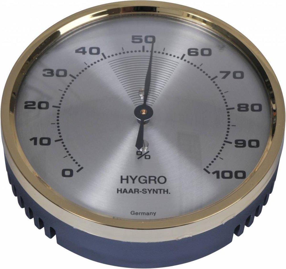TFA Hygrometer 7CM met Messing Ring - Analoog