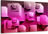 Canvas schilderij Vierkant   Paars, Wit, Roze   140x90cm 1Luik
