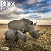 Rhinos Wall Calendar 2021
