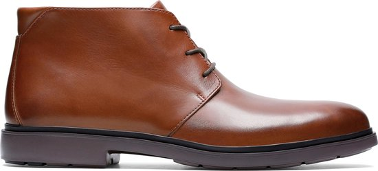 Clarks - Herenschoenen - Un Tailor Mid - G - tan leather - maat 10,5