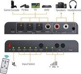 SGM-133 Digitaal naar audio omzetter, Optische Toslink naar analoog (L/R stereo), Zwart