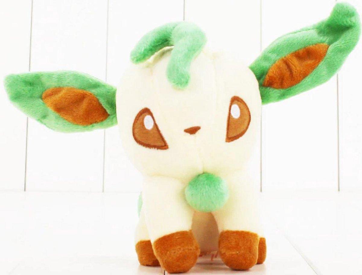 Knuffel Pokemon Leafeon - bekend van de TV - creator - Pokémon - pokéball - speelgoed - Plushe