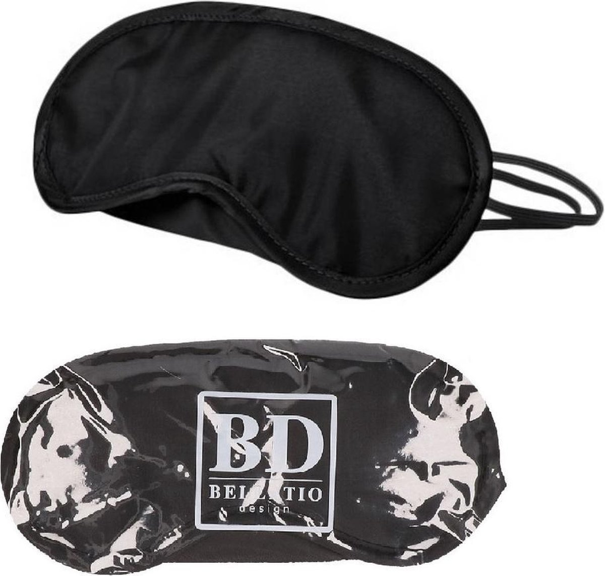 Slaapmasker zwart 2 stuks