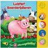 Afbeelding van het spelletje Kinderboeken Rebo Boerderij - Geluidenboek Luister: Boerderijdieren