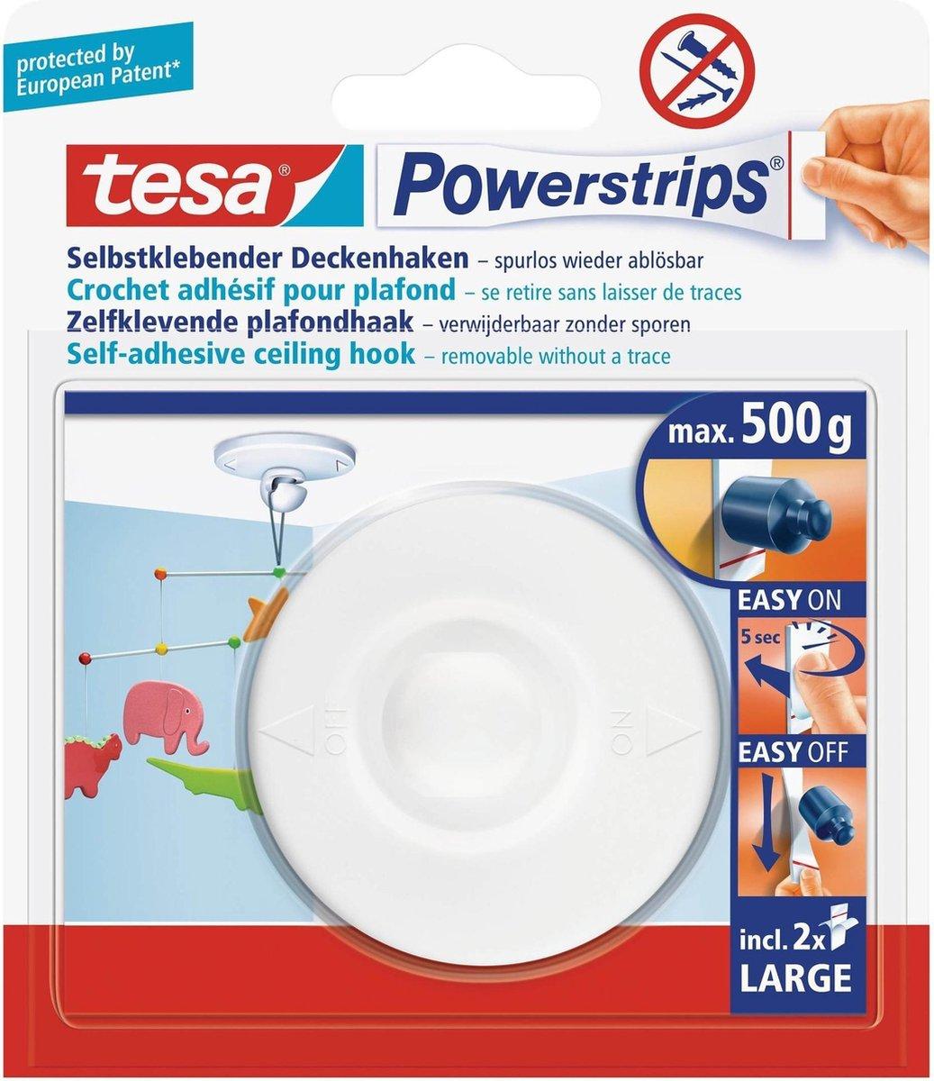 Tesa Powerstrips Plafondhaak - Wit