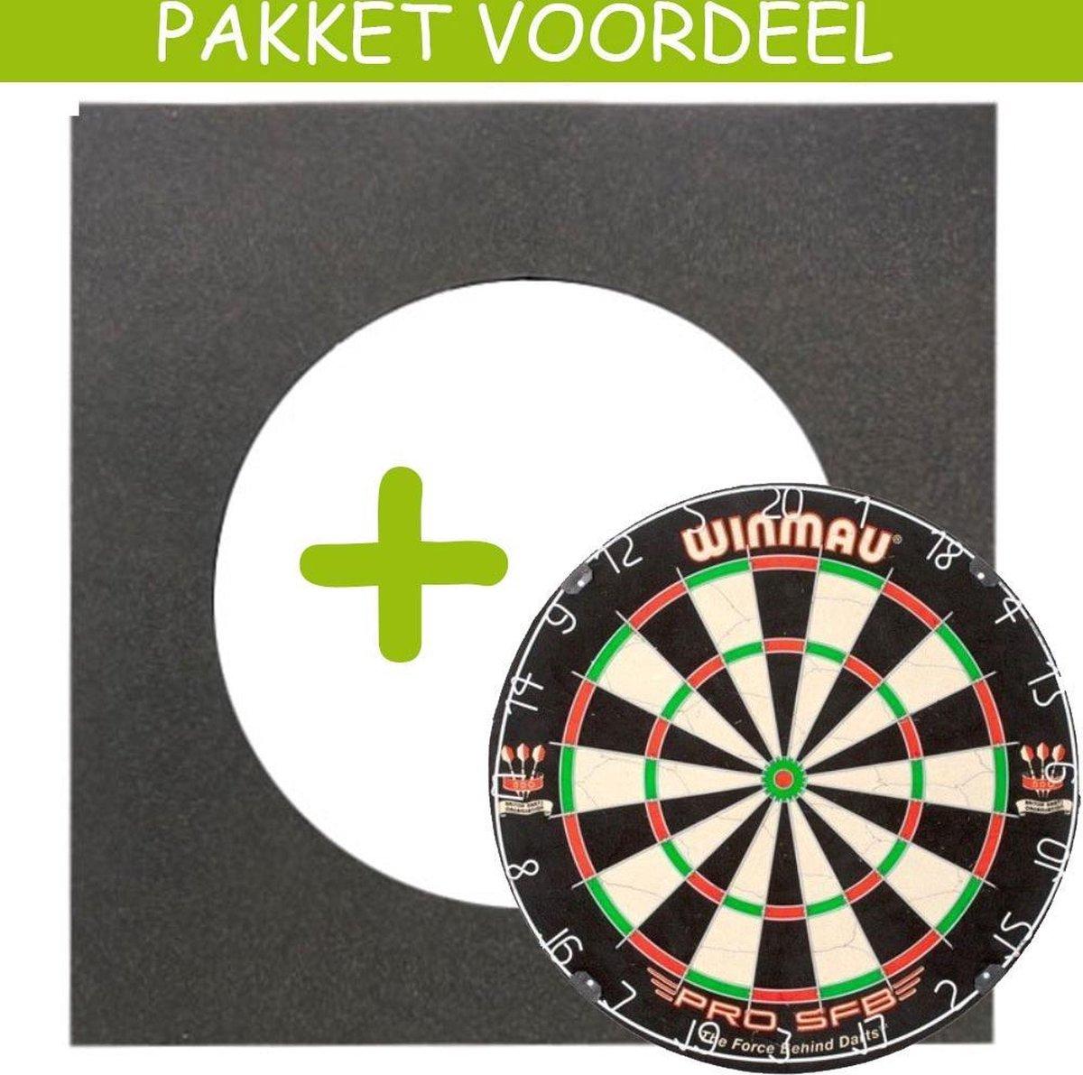 Dartbord VoordeelPakket Basic - Pro SFB - Vierkant-
