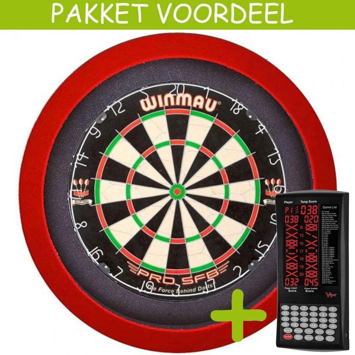 Elektronisch Dart Scorebord VoordeelPakket (Viper ) - Pro SFB - Dartbordverlichting Basic (Rood)
