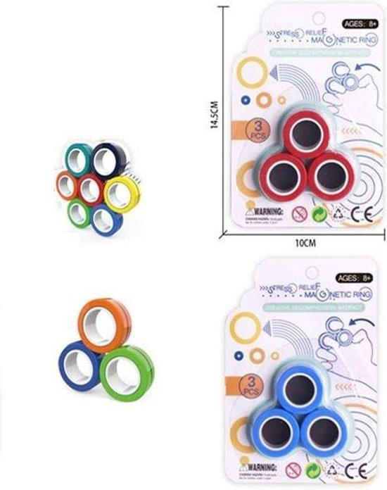 Afbeelding van het spel Stress Magnetische Ringen Voor Autisme Adhd/Angst, Focus - Kids - Decompressie - Fidget-Speelgoed – Stress-Speelgoed