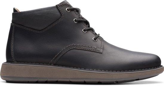 Clarks - Herenschoenen - Un Larvik Top2 - G - black leather - maat 10,5