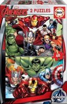 Educa - Marvel: The Avengers - 2 x 48 Puzzel stukjes